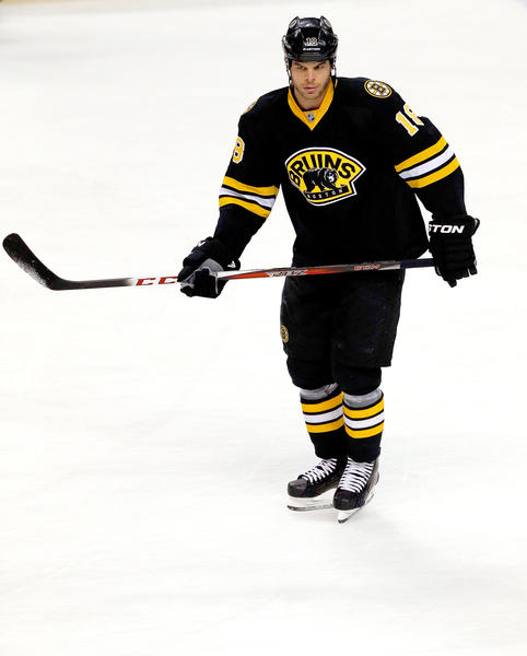 Kaspars Daugavins of the Boston Bruins.