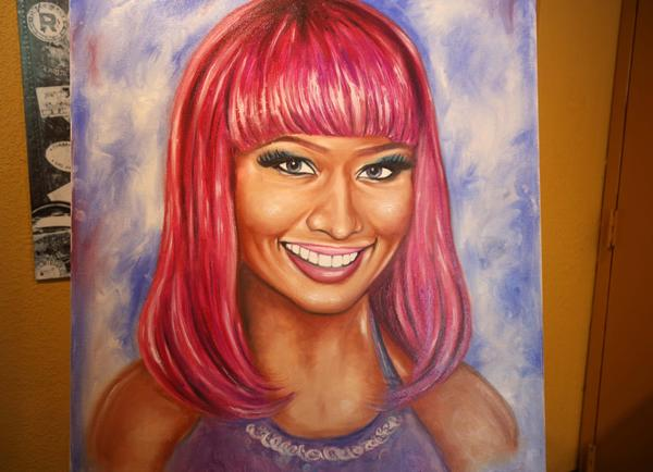 Lipstick painting of Nicki Minaj. Ripley's is having its first Bizarre Buying Bazaar, where folks can come to the attraction and attempt to sell their odd possessions for use in Ripley's museums worldwide...June 7, 2013.B582977747Z.1.(George Skene/Orlando Sentinel)
