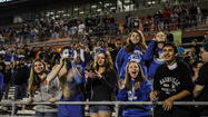 Fans celebrate the 2nd state football title for Apopka after the Blue Darters edged Weston Cypress Bay 53-50 in the Class 8A final at the Florida Citrus Bowl in December. (Joshua C. Cruey, Orlando Sentinel)