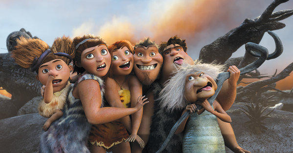 Still from the DreamWorks Animation movie The Croods.