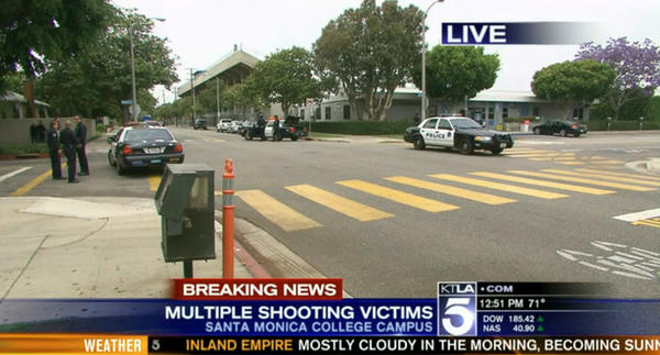 Shots Fired In Santa Monica /6 confirmed deaths including the gunman, John Zawahri/ many others injured at several different crime scenes  in shooting rampage  600
