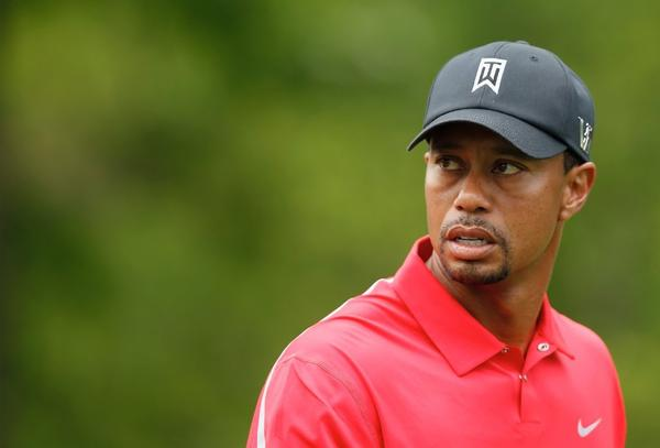 Tiger Woods plays in the final round of the Memorial Tournament on June 2.