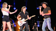 Taylor Swift, Tim McGraw, Keith Urban team up at CMA Festival