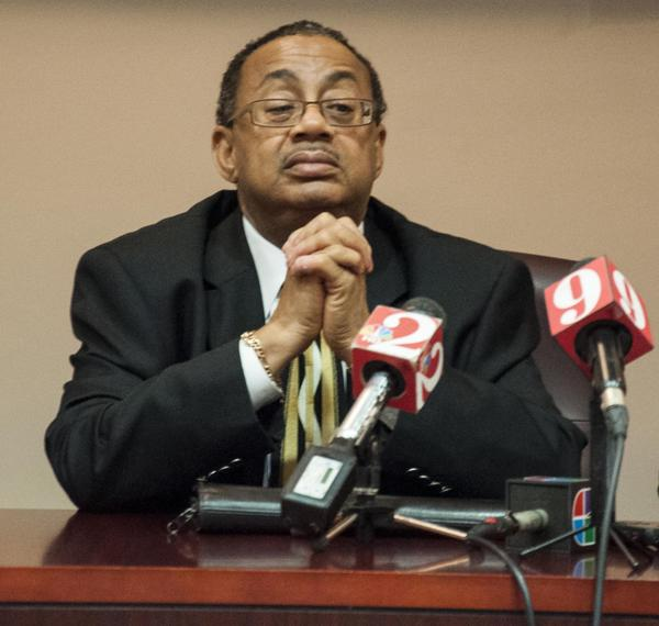 Chief Judge Belvin Perry at a press conference at the Orange County Court House in Orlando on February 28, 2013.
