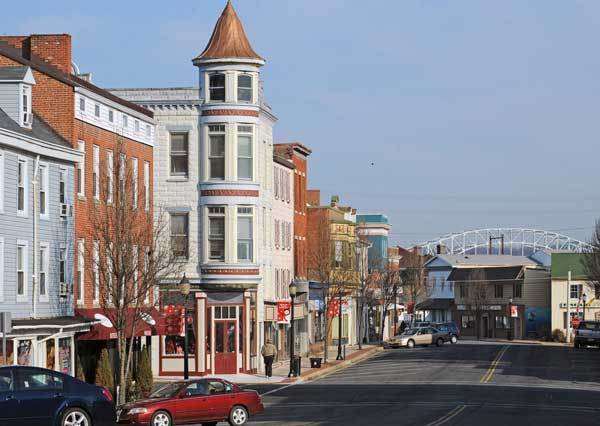 Shops in the historic downtown area of Washington Street in Havre de Grace.