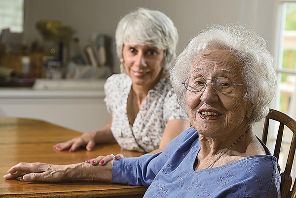 Michele Quattrociocchi is caregiver to her mother, Norma Sauer. Through Memory Cafe, a group that meets for meals, Quattrociocchi is able to find support from others who are caregivers to loved ones with memory loss.