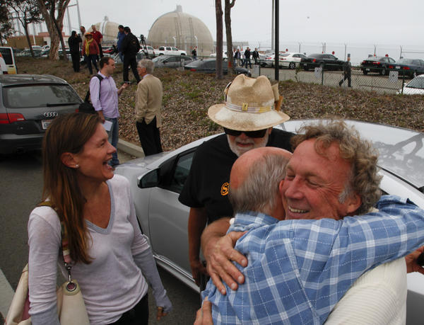 Activists who have fought for the closure of the San Onofre Nuclear Generating Station cheer the news that Southern California Edison will be permanently closing the facility.