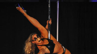 Slide up to West Palm Beach and hang around with pole dancers this weekend