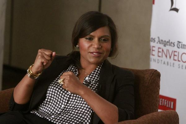 Mindy Kaling talked about her love of romantic comedies, the good ones anyway, at the Envelope Emmy Roundtable.