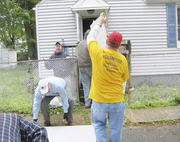 On Memorial Day weekend, volunteers for New Life Evangelical Church in New Tripoli repair homes in Keansburg, N.J., that were damaged by Superstorm Sandy in 2012.