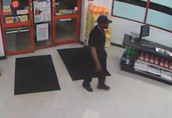 Broward Sheriffs deputies are searching for the gunman seen on video robbing an auto parts store in Pompano Beach