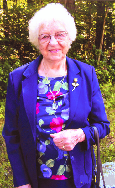 Susie O'Neil, a long-time resident of Meyersdale, is pictured in 2008. During her century-long lifetime, she and her generation saw the most technological advances of any generation that has ever lived. She believed that the day of her confirmation  April 1, 1928, when she was 15 years old  was the most precious day of her life. She was a life-long member of Trinity Evangelical Lutheran Church in Glen Savage and as long as she was able, she was faithful in her attendance.