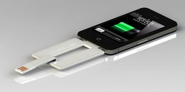 Slightly thicker than a charge card, the ChargeCard has a USB plug that will help give your mobile device the juice it needs.