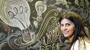 It's another day in the startup sandbox, and Nina Nashif is leaving tracks.