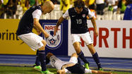 Brad Evans sent in an injury time winner for the United States as it beat Jamaica 2-1 in their World Cup qualifier in Kingston on Friday.