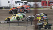 A trio of Modified heavyweights put on a show for the fans at the Brown County Speedway on Friday.