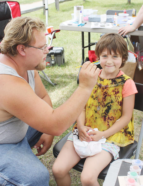 Face painting is among the activities at the coming Summerfest in Pellston.