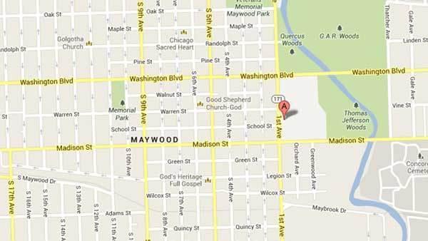 Area of Proviso East High School in Maywood