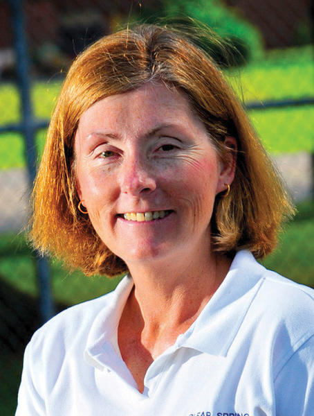 Clear Spring's Lisa Shives is the 2013 Herald-Mail Washington County Tennis Coach of the Year.