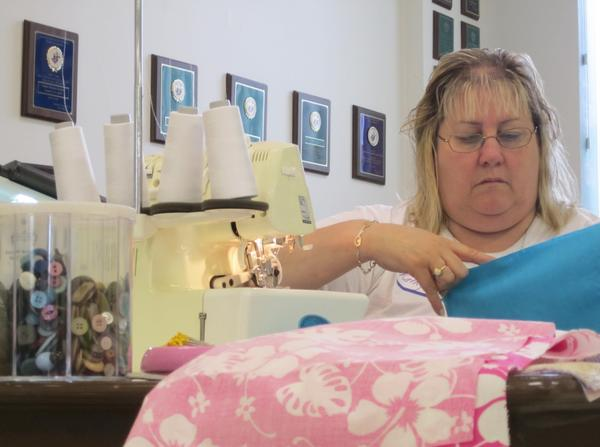 Kathy Furth planned a sewing-themed charity event to help the victims of last month's tornado in Moore, Okla.