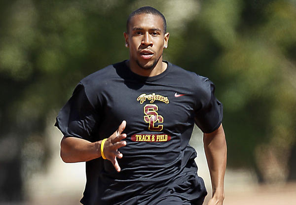 USC's Bryshon Nellum, pictured in 2010, finished third in the 200-meter final at the NCAA track and field championships in Eugene, Ore.