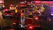 A van accident sent 14 people, two of them seriously injured, to area hospitals following a crash on the Kennedy Expressway near about 500 north this evening.