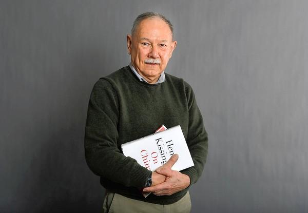 """Edwin Schatkowski, 76, of Lower Macungie, with one of his latest reads """"On China"""" by Henry Kissinger"""