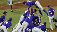 JaCoby Jones had four hits, including a home run, and drove in two runs to help Louisiana State rout Oklahoma, 11-1, on Saturday night to advance to the College World Series for the 16th time.