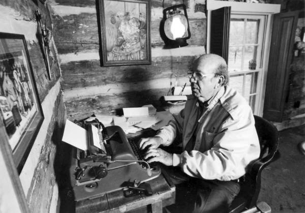 The Rev. Will D. Campbell, in 1992, at work in his Tennessee home.
