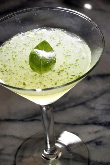 Ginger meets basil in this drink