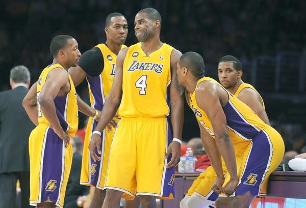Chris Duhon, Dwight Howard, Antawn Jamison, Metta World Peace, Darius Morris
