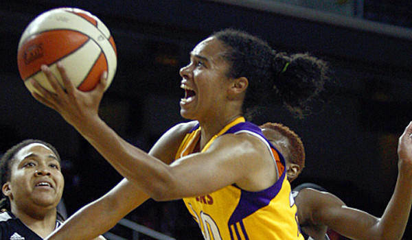 Kristi Toliver, shown back in September, scored 21 points in the Sparks' 76-69 overtime victory over Tulsa on Saturday night.