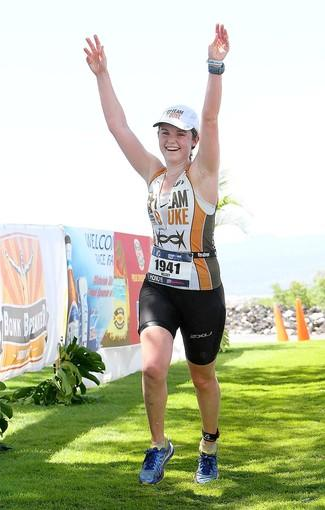 Newport Harbor High senior Kelsey Christiansen competed in the Ironman triathlon.
