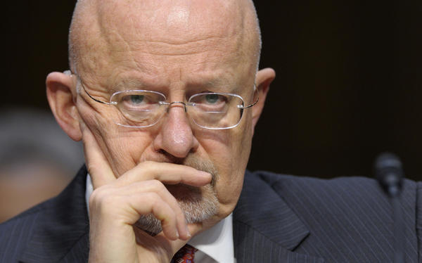Director of National Intelligence James Clapper at a Senate Intelligence Committee hearing in March.