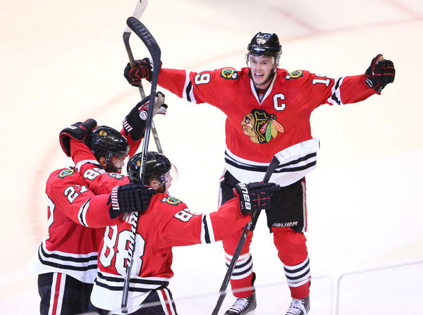 Blackhawks captain Jonathan Toews has just one goal in the postseason, but has contributed in other ways.