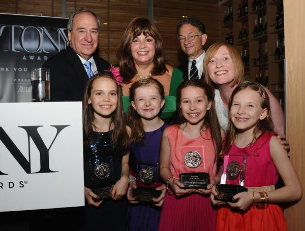 "The cast of ""Matilda, the Musical"" attended a pre-Tony award party Saturday, where the four actresses who alternate in the lead role received special awards."