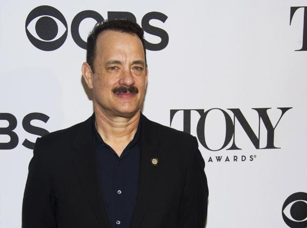 Tom Hanks attends the 2013 Tony Awards Meet the Nominees press reception.