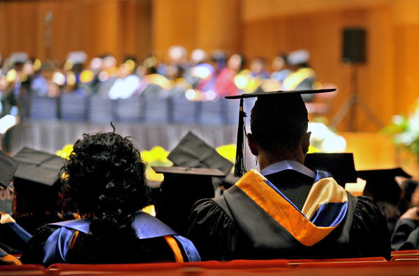 Coppin State University's graduation ceremony is held at Baltimore's Joseph Meyerhoff Symphony Hall.