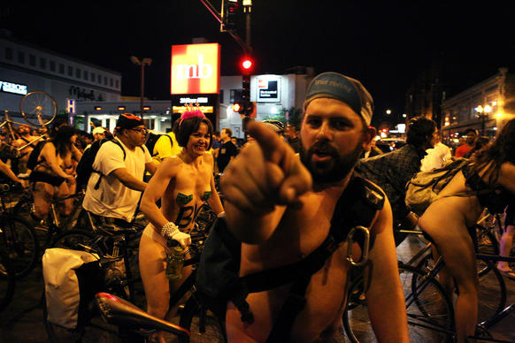 Bike riders took to Chicago's streets on Saturday, June 8, 2013 to celebrate freedom from oil and the beauty of people.