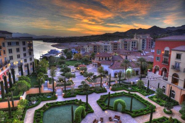 The newly rebranded Hilton Lake Las Vegas.