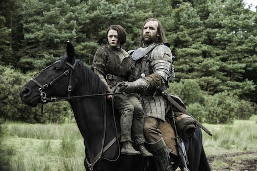 'Game of Thrones' Season 3: Arya and Sandor Clegane