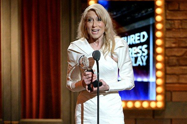 "Actress Judith Light accepts the award for Performance by an Actress in a Featured Role in a Play for ""The Assembled Parties."""