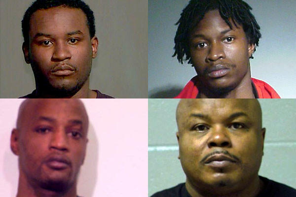 Clockwise from top left: Menard McAfee, Dimeyon Cole, Kevin Mitchell and Raymond Winters.
