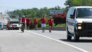 25 local law enforcement officers carry Special Olympics torch 18 miles through Harford