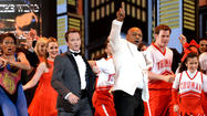 "Host Neil Patrick Harris and former boxer (and star of ""Undisputed Truth"") Mike Tyson onstage at the 67th Annual Tony Awards at Radio City Music Hall in New York City."