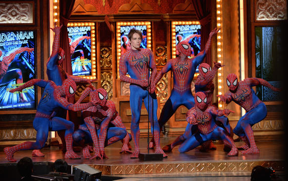"Reeve Carney of ""Spider-Man: Turn Off the Dark"" and fellow web-slingers take a turn onstage."
