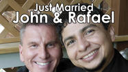 John Mathews and Rafael Reyes, both of Michigan City Indiana were joined in civil union Saturday, June 8, 2013 at Pine Manor Chicago
