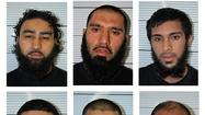 LONDON -- Six men from Birmingham in central England received lengthy jail sentences Monday for plotting to bomb a right-wing rally last June.