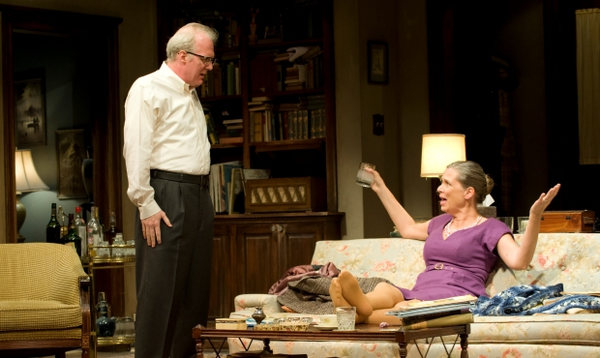 Tracy Letts and Amy Morton in 'Who's Afraid of Virginia Woolf?""