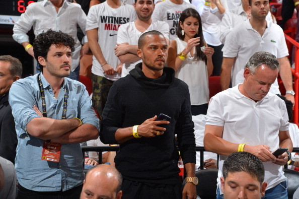 Celebs spotted at Miami Heat games - Celebrity Jesse Williams